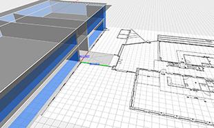 Gebouw optrekken vanuit CAD tekening in Vabi Elements